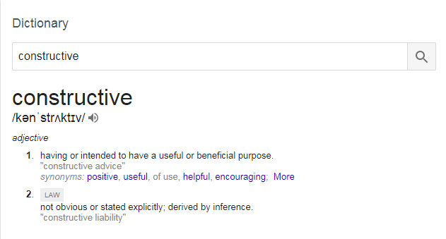 Definicija konstruktivnosti